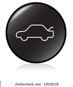 car trunk release button symbol - black version