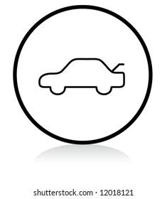 car trunk release button symbol - b/w version