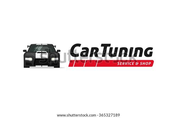 Logo Des Automobil Tuning Shops Vektorsymbol Auto Service