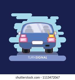 car with turn signal