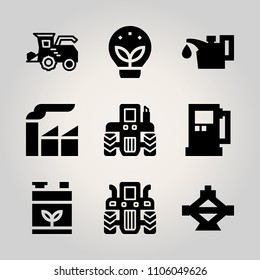 Car Utensils icon set. worker, icon, octane and gasoline vector illustration for web