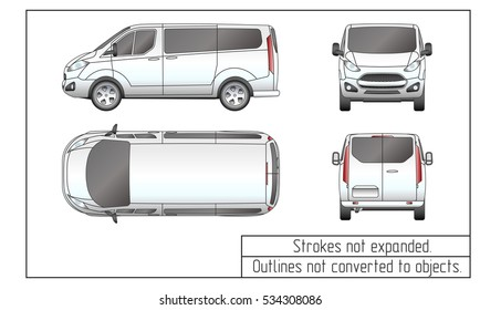 car van drawing outline strokes not expanded