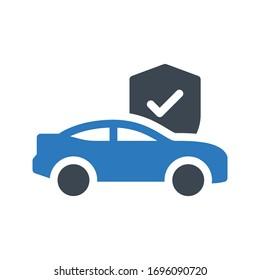 car vector glyph color icon
