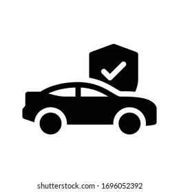 car vector glyph flat icon
