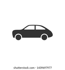 Car vector Icon flat style Automobile symbol for your web design, logo, UI. illustration