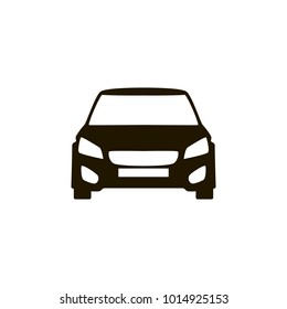 Car vector icon. Isolated simple front car logo illustration. Sign