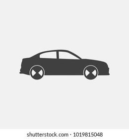 Car vector icon. sedan vector icon