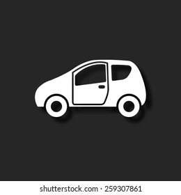 Car   - vector icon with shadow