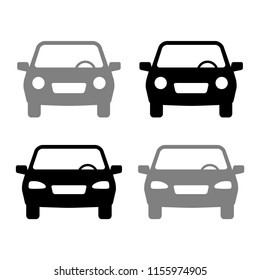 Car vector icons on white background