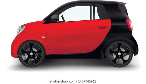 Car vector template on white background. Hatchback isolated. All elements in groups on separate layers. The ability to easily change the color. Vector Illustration EPS 10.