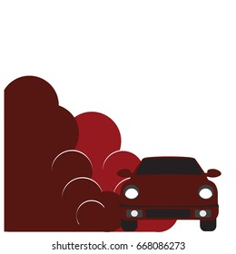 Car vector template on white background