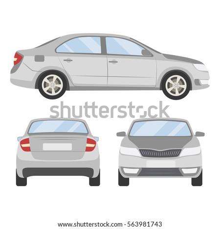 Car Templates | Car Vector Template On White Background Stock Vektorgrafik