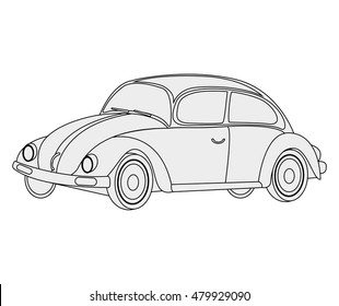 car vehicle beetle isolated icon vector illustration design