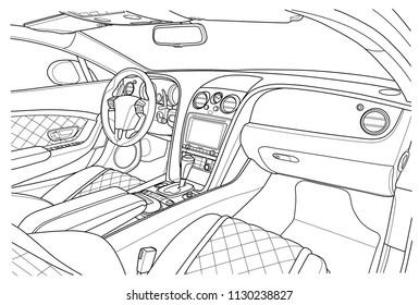 Car vehicle interior.