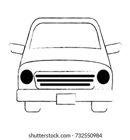 car vehicle isolated icon