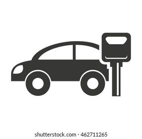 car vehicle silhouette icon vector illustration design