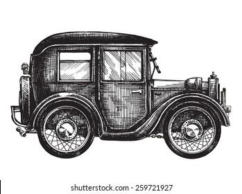 car vintage vector logo design template. transport or vehicle icon.