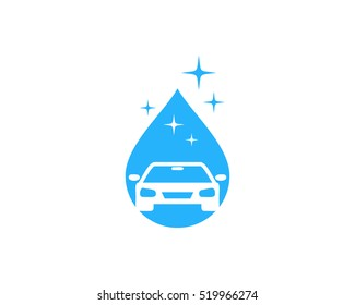 Car Wash Auto Cleaning Logo Design Template