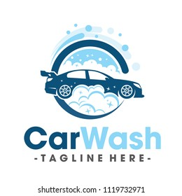 Car Wash and Clean Logo Vector