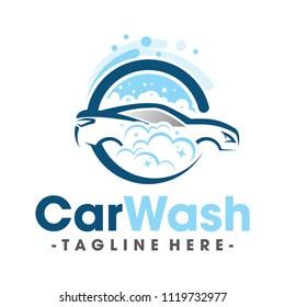 Car Wash and Clean Logo Vector