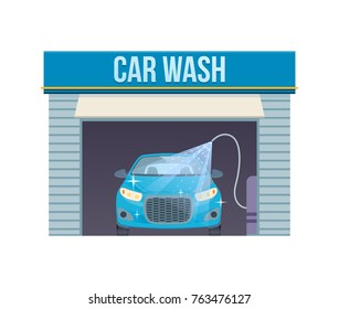Self service car wash images stock photos vectors shutterstock car wash concept car washing service center full and self service facilities logo car solutioingenieria Gallery