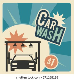Car Wash, front of a automobile  within the system