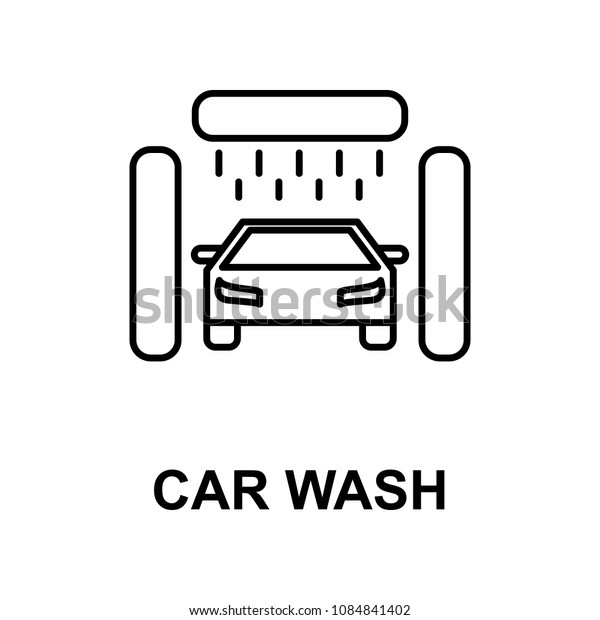 car wash icon. Element of car repair for mobile concept and web apps. Detailed  icon can be used for web and mobile. Premium icon on white background
