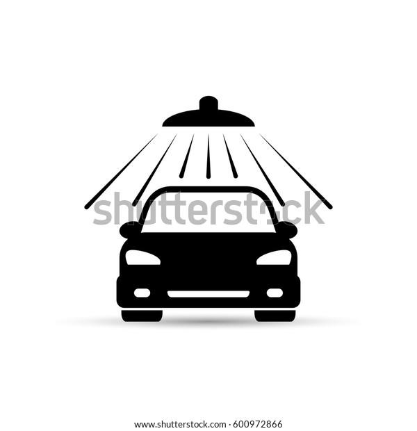 Car wash icon on white background. Vector isolated illustration.