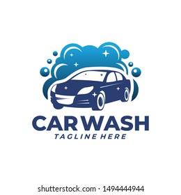 car wash logo clean icon