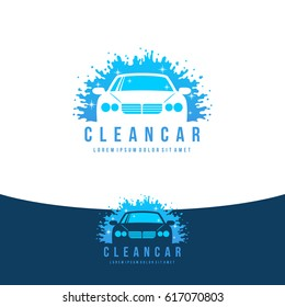 Car Wash Logo - Clean Car Vector