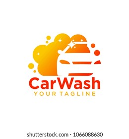 car wash logo company design template