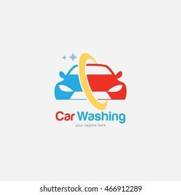 Car Wash Logo Design Template. Vector Illustration