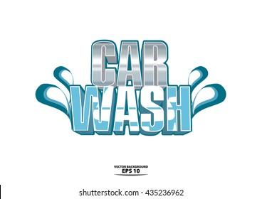 car wash logo extrude concept