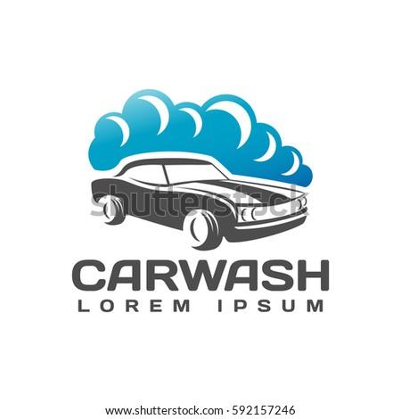 Car Wash Logo Car Icon Auto Stock Vector Royalty Free 592157246