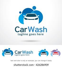 Car Wash Logo Template Design Vector