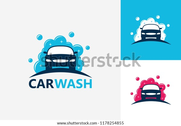 Car Wash Logo Template Design Vector Stock Vector Royalty Free
