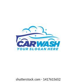 Car wash logo template illustration