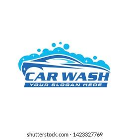 Car wash logo template vector illustration