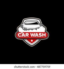 Car wash logo template vector.