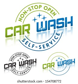 Car Wash Service Label Template
