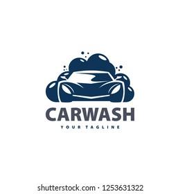 car wash service logo vector. Professional Car Wash Company or Business Logo. Logo car wash on light background.