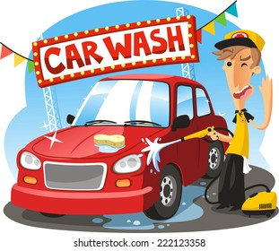 Hand Car Wash Cartoon Images Stock Photos Vectors Shutterstock