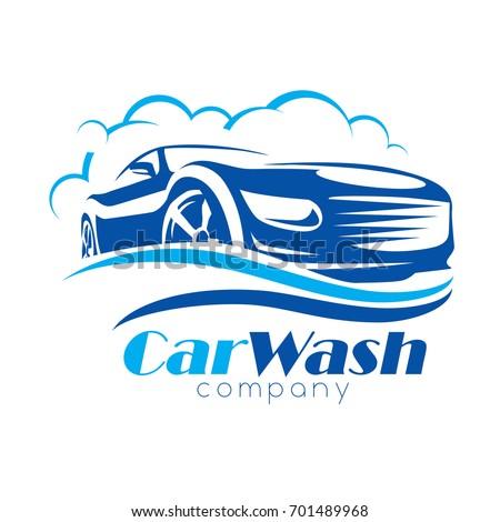 Car Wash Stylized Vector Symbol Design