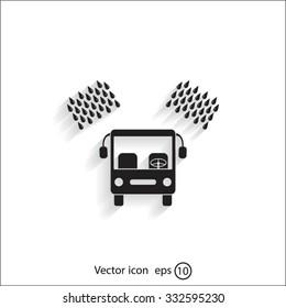 Car wash vector icon.