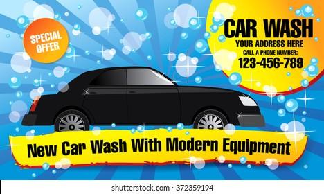 car wash. vector illustration