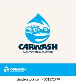 car wash vector logo
