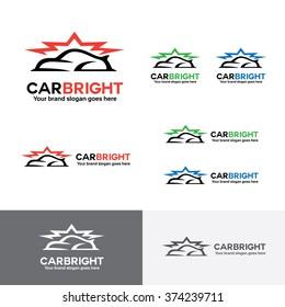 Car Wax Logo, Car Body Paint Brand Identity, Car Care Service Company Logo