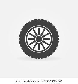 Car wheel disc vector creaitve icon or symbol