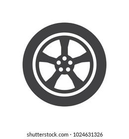 Car wheel icon symbol vector