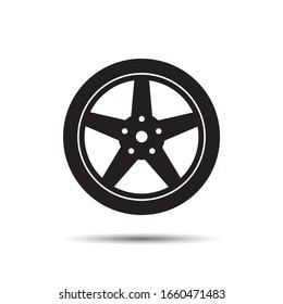 Car wheel Icon. Vector for design